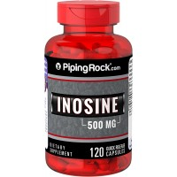 Piping Rock Inosine 500 mg 120 Quick Release Capsules Dietary Supplement
