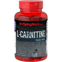 Piping Rock L-Carnitine 500 mg 120 Quick Release Capsules Dietary Supplement