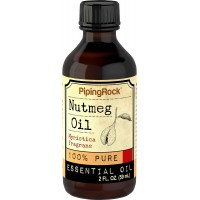 Piping Rock Nutmeg 100% Pure Essential Oil 2 fl oz (59 ml) Bottle Myristica Fragrans Therapeutic Grade