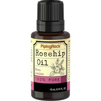 Piping Rock Rosehip 100% Pure Essential Oil 1/2 oz (15 ml) Dropper Bottle Rosa Canina Therapeutic Grade