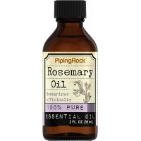 Piping Rock Rosemary 100% Pure Essential Oil 2 fl oz (59 ml) Bottle Rosmarimus Officinalis Therapeutic Grade