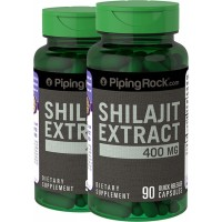 Piping Rock Shilajit Extract 400 mg 2 Bottles x 90 Quick Release Capsules Herbal Supplement