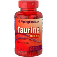 Piping Rock Taurine Free Form 1000 mg 120 Coated Tablets Dietary Supplement