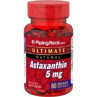 Piping Rock Ultimate Natural Astaxanthin 5 mg 60 Quick Release Softgels Dietary Supplement