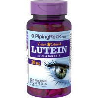 Piping Rock Vision Shield Lutein with Zeaxanthin 20 mg 180 Quick Release Softgels Dietary Supplement