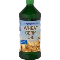 Piping Rock Wheat Germ Oil 16 fl oz (473 mL) Bottle Cold Pressed Rich in Vitamin E Dietary Supplement