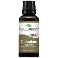 Plant Therapy Geranium Bourbon Essential Oil. 100% Pure, Undiluted, Therapeutic Grade. 30 mL (1 Ounce).