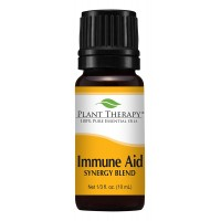 Plant Therapy Immune-Aid Synergy Essential Oil Blend. 100% Pure, Undiluted, Therapeutic Grade. Blend of: Frankincense, Tea Tree, Rosemary, Lemon, Eucalyptus and Orange. 10 ml (1/3 oz).