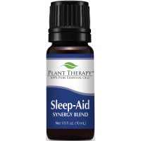 Plant Therapy Sleep Aid Synergy Essential Oil Blend. 100% Pure, Undiluted, Therapeutic Grade. Blend of: Mandarin, Ylang-Ylang, Valerian, Lavender and Neroli. 10 ml (1/3 oz).