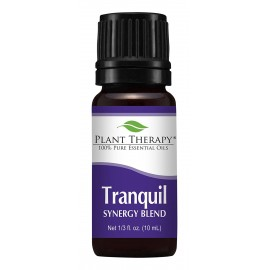 Plant Therapy Tranquil Synergy Essential Oil Blend. 100% Pure, Undiluted, Therapeutic Grade. Blend of: Bergamot, Patchouli, Blood Orange, Ylang Ylang and Grapefruit. 10 ml (1/3 oz).