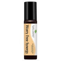 Plant Therapy Worry Free (Stress Free) Synergy Pre-diluted Essential Oil Roll-on. Ready to Use! Blend Of: Lavender, Marjoram, Ylang Ylang, Sandalwood, Vanilla and Roman Chamomile. 10 ml (1/3 oz).