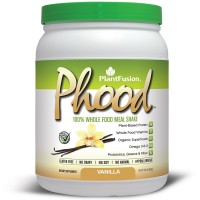 PlantFusion Phood Meal Replacement Protein Powder, Vanilla, No Soy or Rice, 10 servings, 18g Protein, 15.9oz Tub