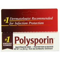 Polysporin First Aid Antibiotic Ointment 1-Ounce for Minor Scrapes, Burns, Cuts
