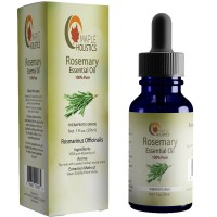 Pure Rosemary Essential - 100% Natural & Therapeutic Grade - Hair Growth, Scalp and Memory Benefits for Women and Men - 1oz - Guaranteed By Maple Holistics