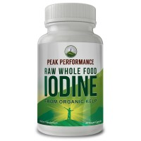 Raw Whole Food Iodine From Organic Kelp ( Ascophyllum Nodosum ) By Peak Performance. Thyroid Support Supplement. Great For Metabolism, Energy and Immune Boost - 60 Vegan Capsules