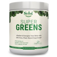 SUPER GREENS | Veggie Greens Superfood Powder - 20 Organic Ingredients: Spirulina, Chlorella, Spinach, Broccoli, Barley Grass + More - Plus Organic Fruits, Probiotics, and Enzymes | Non-GMO, No Soy