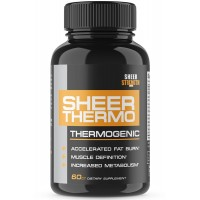 Sheer THERMO Fat Burner - Fat Burning Thermogenic for Women and Men, New Max. Strength Formula from Sheer Strength Labs, 60 Weight Loss Pills