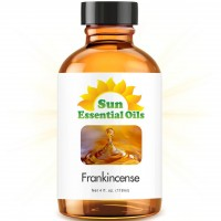Sun Organic Essential Oil, Frankincense (4 Ounce)