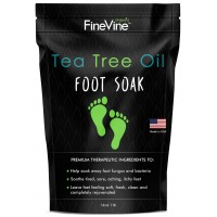 Tea Tree Oil Foot Soak With Epsom Salt - Made in USA - For Toenail Fungus, Athletes Foot,  Stubborn Foot Odor Scent, Fungal, Softens Calluses & Soothes Sore Tired Feet.