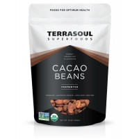 Terrasoul Superfoods Raw Criollo Cacao Beans (Organic), 16-ounce