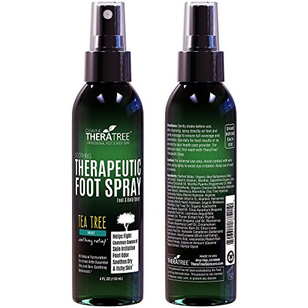 Therapeutic Foot Spray   Shoe   Foot Odor Eliminator with Tea Tree   Neem  MSM. Buy Therapeutic Foot Spray   Shoe   Foot Odor Eliminator with Tea