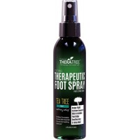 Therapeutic Foot Spray – Shoe & Foot Odor Eliminator with Tea Tree, Neem, MSM & Soothing Menthol for Causes of Skin Irritation, Athlete's Foot & Itchy Skin