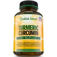 Turmeric Curcumin with Black Pepper 1200mg. Premium Pain Relief & 100% Natural Anti-Inflammatory with 95% Standarized Curcuminoids. Antioxidant & Joint Support. Non-GMO & Gluten Free