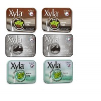 Xyla Brand Xylitol Mints 3 Flavor Variety Pack, 6 Tins, 2-wintermint, 2-Cocoa Mint, 2-licorice