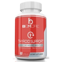 beMore THYROID SUPPORT | Increase Energy, Boost Metabolism, Lose Weight & Burn Fat with B-12 Schizandra Forskolin Kelp Ashwagandha Iodine Zinc Selenium Molybdenum for Thyroid Health & Adrenal Support