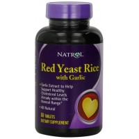 Natrol Red Yeast Rice with Garlic Nutritional Supplements, 60 Count