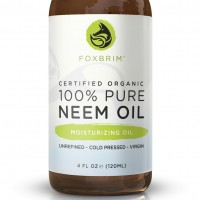 100% Pure Organic Neem Oil - Nutrient Rich Oil For Hair, Skin & Nails - Treat Acne, Fade Fine Lines, Heal Stretch Marks, Moisturize Hair & Scalp - Foxbrim 4OZ