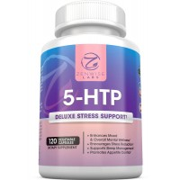 5-HTP - With 100mg of 5 HTP + Vitamin B6 - Stress Relief & Mood Control Supplement - All-Natural Appetite Suppressant & Sleep Aid - 120 Vegetarian Capsules
