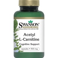Swanson Acetyl L-Carnitine 500 mg 100 Capsules