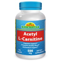 Acetyl L-Carnitine 500 mg 120 Vcaps by Nova Nutritions