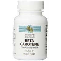 American Biologics Beta Carotene Softgels, 90 Count