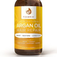 Argan Oil Hair Repair - 100% Natural Vegan Oils - Premium Restorative Natural & Organic Hair Care - Soften, Protect & Repair Argan Oil for Hair plus Jojoba Oil, Coconut Oil & Shea Butter - Foxbrim 4OZ