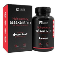 Astaxanthin (12mg) with Organic Coconut Oil, 60 Veggie Softgels