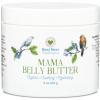BEST Nest Mama Belly Butter, Natural Organic Stretch Mark Cream for Pregnancy & Beyond, Helps Removal and Reduces Risk of Stretch Marks (Striae) in Pregnant Women, 4 Oz