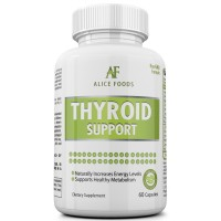 """Best Thyroid Support Supplement with Iodine + """"Thyroid Disorders"""" Guide - Premium Natural Ingredients - Improves Energy Levels and Metabolism - Pack of 60 Capsules - Perfect for Men and Women"""
