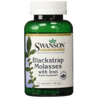 Swanson Blackstrap Molasses with Iron 29 mg 120 Capsules