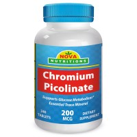 Chromium Picolinate 200 mcg 240 Tablets by Nova Nutritions