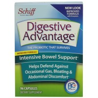 Digestive Advantage Probiotics -Intensive Bowel Support Probiotic Capsules-Provides relief from minor abdominal discomfort, bloating, and occasional diarrhea-Survives 100x better than yogurt and leading probiotic-96 capsules (32 Capsules in Pack of 3)