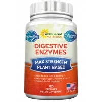 Digestive Enzymes Supplement (120 Capsules) Best Digestive Cleanse w/ Amylase Bromelain Lipase & Lactase - Proteolytic Enzyme Pills for Digestion, Bloating, Gas, IBS, Break Protein Fat Carbs & Gluten