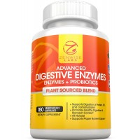 Zenwise Labs Digestive Enzymes with Prebiotics and Probiotics - All Natural Gluten Free Enzymes for Better Digestion, Bloating, Gas, Discomfort, IBS, Lactose and Greater Nutrient Absorption - Vegan - 180 Vcap