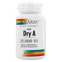 Emulsified Dry Vitamin A 25,000 IU Solaray 60 Caps