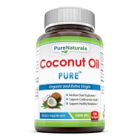 Pure Naturals Extra Virgin and Organic Coconut Oil Softgel, 1000 mg, 180 Count
