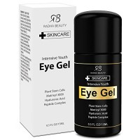 Eye Cream for Puffiness, Dark Circles, Wrinkles & Bags - The most effective eye gel for every eye concern - All Natural Ingredients - .5 fl oz