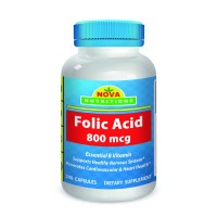 Folic Acid 800 mcg 240 Capsules by Nova Nutritions