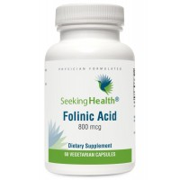 Folinic Acid | 60 Vegetarian Capsules | Provides 800 mcg Bioavailable Folinic Acid | Physician Formulated | Seeking Health