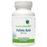 Folinic Acid Lozenge | 60 Lozenges | Provides 800 mcg of Folate | Non-GMO | Physician Formulated | Seeking Health